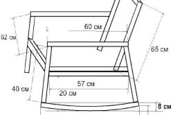 Схема кресло-качалки.