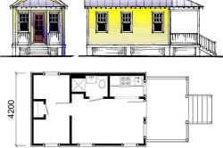 Схема дачного домика с небольшой террасой
