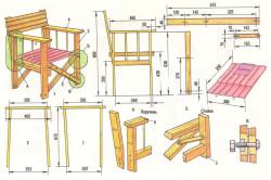 Схема монтажа мебели для террасы.
