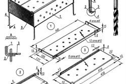 Схема устройства стационарного барбекю.