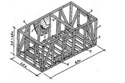 Монтажная схема стен веранды