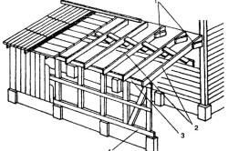 Схема пристроенной веранды